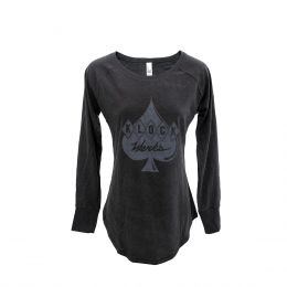 Women's Long Sleeve Black Tunic Tee