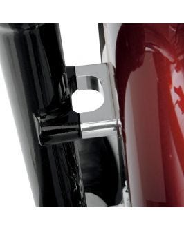 Available in Chrome or Raw, Blocks provide perfect spacing for Tire Hugger Series Front Fender installation.